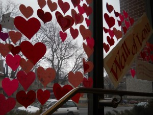 "Missoula Public Library's ""Wall of Love"""