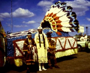 Neighborhood Youth Corps float, North American Indian Days, 1972