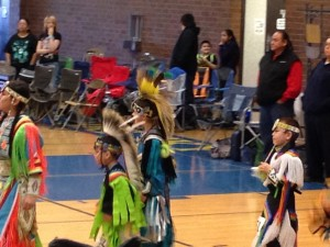 Grand entry at Honoring Our Youth Pow Wow, 2013
