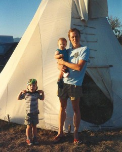 Eric, Colin and Rich at the 1991 Fort Missoula Powwow