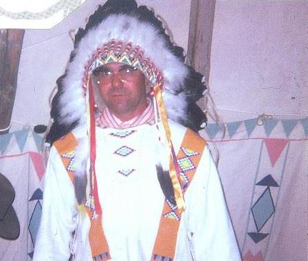 My dad, Chief Morning Owl, in 1972