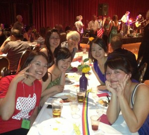 Ju, Amy, Sunny, Alice, Tiffany and Rainbow at the After-Festival Party