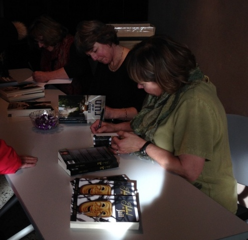 Janet, Karen and Leah signing books at the Butte-Silver Bow Public Archives.