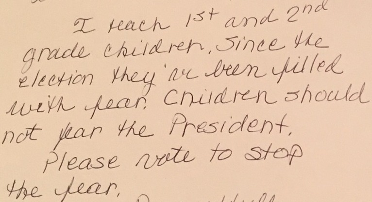 Children should not fear the President.